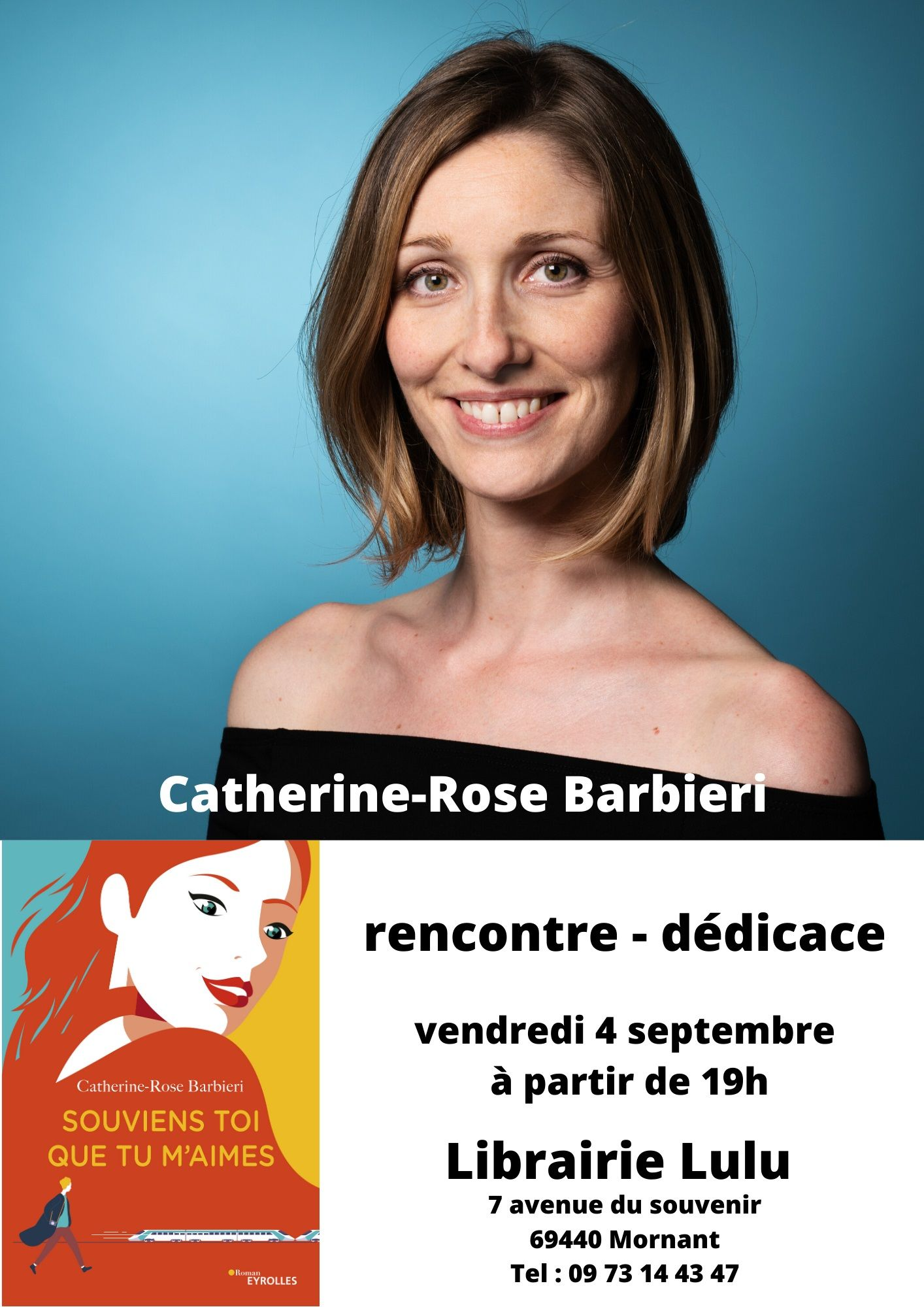 Vendredi 4 septembre à 19h - Catherine-Rose Barbieri en dédicace
